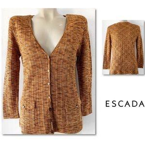 Escada Sweaters - ESCADA KNIT  CARDIGAN SWEATER SZ 40 / US SZ 10